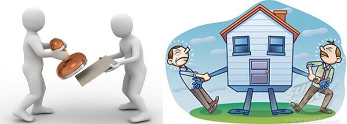Человечки и штамп, домик и лишние жильцы