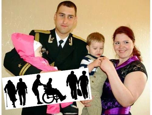 Военный и семья, пенсионеры и инвалиды