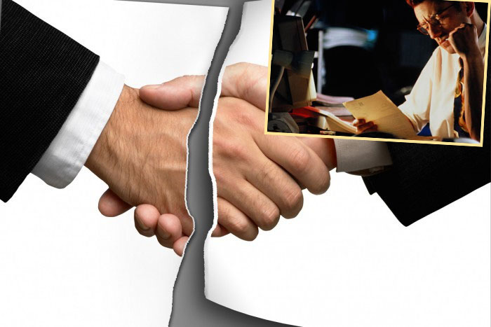 Разрыв рукопожатия и расмотрение документа