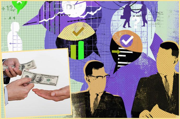 Переговоры, галочки и пеердача денег