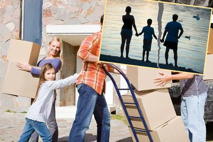Переезд семьи и развод