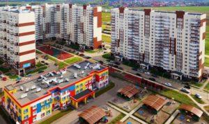 Детская площадка квартир в новостройке