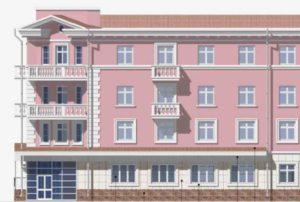 Модель нежилого фасада
