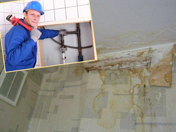 Результаты затопления и ремонтный рабочий