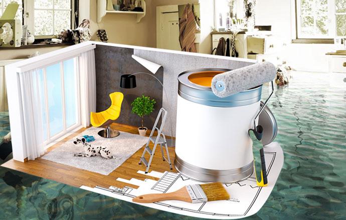 Затопление квартиры и материалы для ремонта