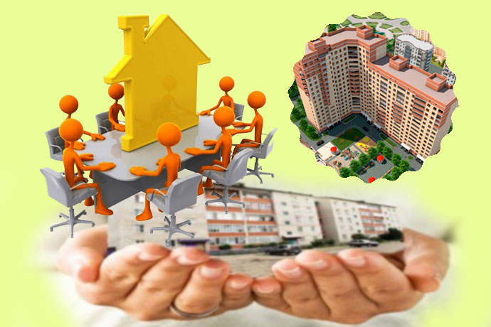 Собрание и многоквартирные дома в руках