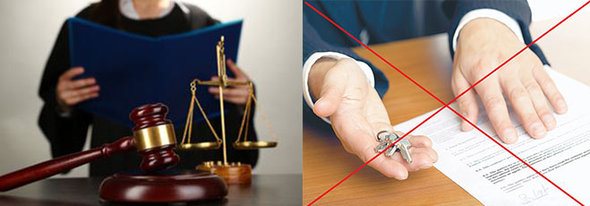 Судебный процесс и отмена сделки
