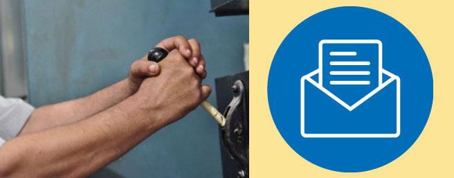 Пеерключение рубильника и почтовое уведомление