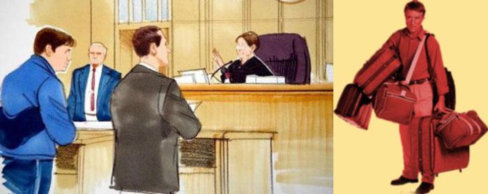 Судебное разбирательство и выселенец