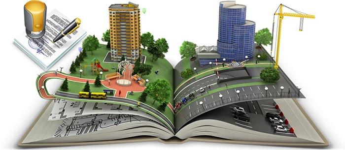Макет строительства квартир и подписание договора
