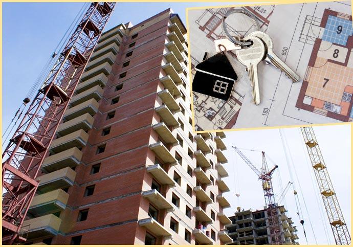Строительство многоэтажки с квартирами, план и ключи