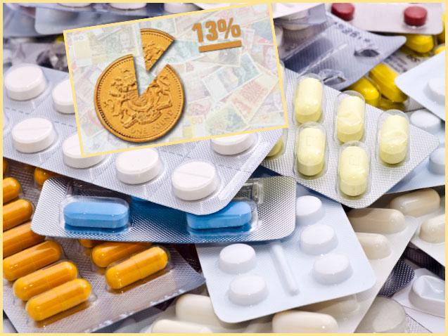 Лекарства и 13%