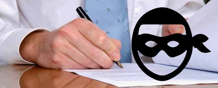 Подписание договора и мошенничество