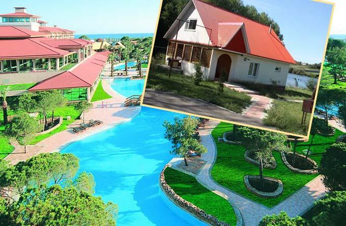 Курорт Турции и домик на реке