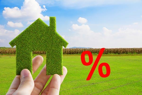 Проценты и земельный участок