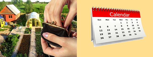 Дача кошелек и календарь