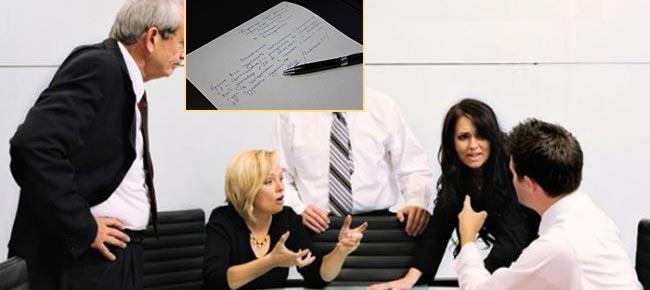 Обсуждение и заявление сотрудника