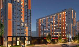 Модель квартала квартир в новостройке