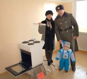 Семья военнослужащих с ребенком
