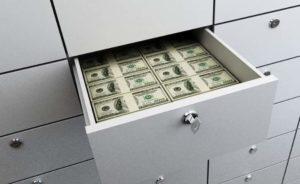 Ящик с долларами