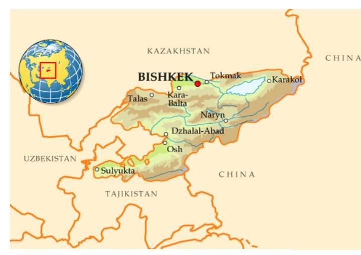 Где находится Киргизия